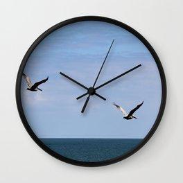 Pair of Pelicans Wall Clock