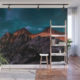 The Volcano Mountain (Color) Wall Mural
