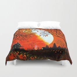 """""""Burning Leaves"""" Autumn/fall art Duvet Cover"""