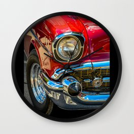 Red Cruise by Teresa Thompson Wall Clock