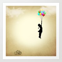 balloons Art Prints featuring balloons by mark ashkenazi