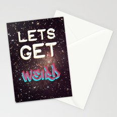 LETS GET WEIRD Stationery Cards
