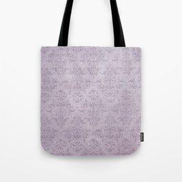 Vintage chic violet lilac floral damask pattern Tote Bag