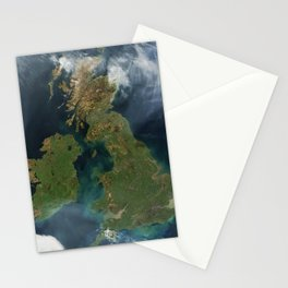 Nearly cloud-free view of Great Britain and Ireland was acquired by the Moderate Resolution Imaging Stationery Cards