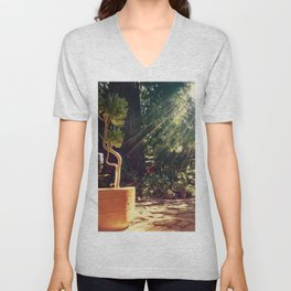 Sunshine on succulents Unisex V-Neck