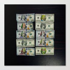 all about the Benjamins Canvas Print