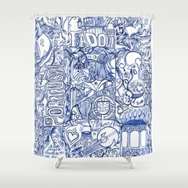 Portugal collage Shower Curtain