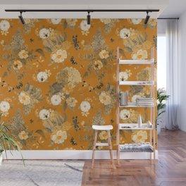 Vintage & Shabby Chic - Golden Summer Day Botanical Flower Roses Garden Wall Mural