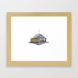 Ferries - nyc vs istanbul Framed Art Print