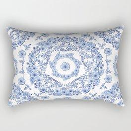 Blue Rhapsody on white Rectangular Pillow
