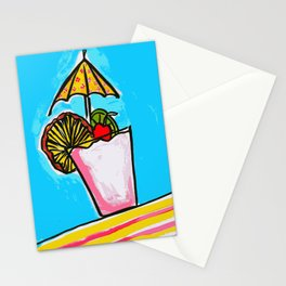 Miami Vice - Tropical Drink - Beach Cocktail - daiquiri Stationery Cards