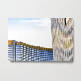 modern buildings with blue at Las Vegas, USA Metal Print