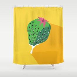 Greeneyed Strawberry Shower Curtain