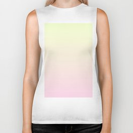 Color gradient 3. Pink and yellow.abstraction,abstract,minimalism,plain,ombré Biker Tank