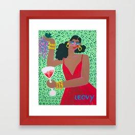 New years glam Framed Art Print