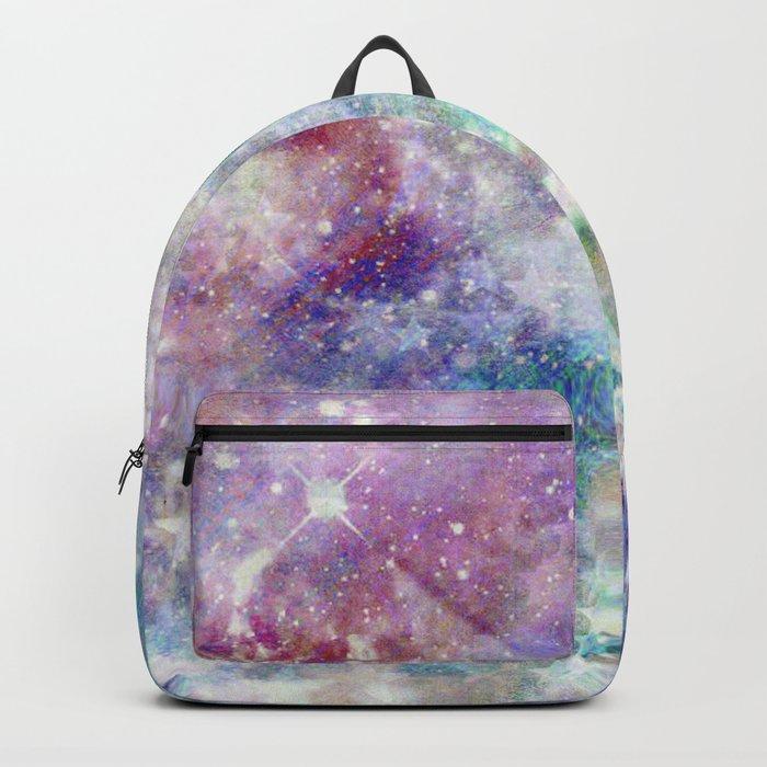 Rainbow Stars Space Galaxy Pattern Backpack