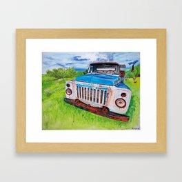 Beat up truck Framed Art Print