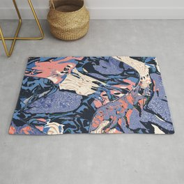 lost in direction Rug