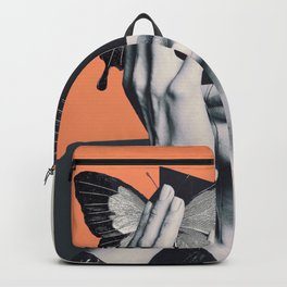collage art / butterfly Backpack