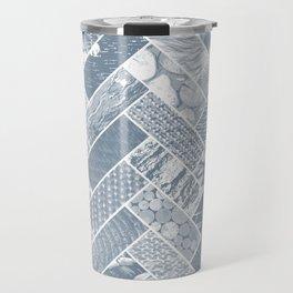 Hygge Style Textured Herringbone Pattern – Grey Travel Mug