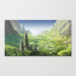 The Valley of the Wind, Nausicaa Canvas Print