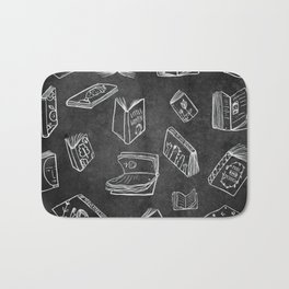 Classic Books - Pattern (Black) Bath Mat