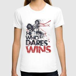 He who dares wins T-shirt