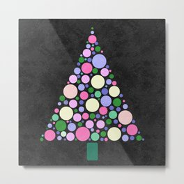 Christmas Tree Marble Metal Print
