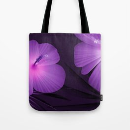 Ultraviolet Hibiscus Tropical Nature Print Tote Bag