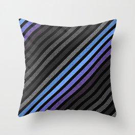 stripES Blue Periwinkle Gray Pixels Throw Pillow