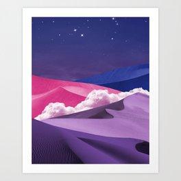 Twilight Sparkles dunes Art Print