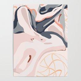 Elegant Zen Marbled Effect Design Poster
