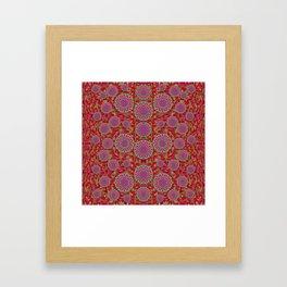Hearts can also be flowers such as bleeding hearts pop art Framed Art Print