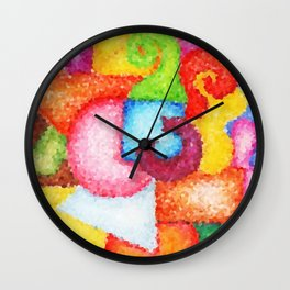 Shapes- Cubist Style Wall Clock