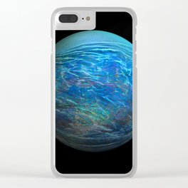 Globe17/For a round heart Clear iPhone Case