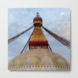 Boudhanath Stupa - Ellie Wen Metal Print