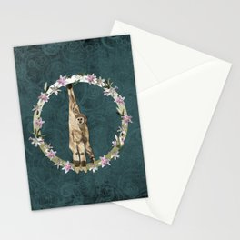 Lar Gibbon Lily Wreath Stationery Cards