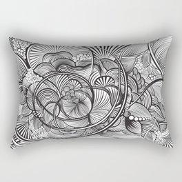 The Ebb and Flow - B&W Rectangular Pillow