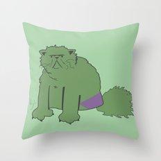 The Incatable Hulk Throw Pillow