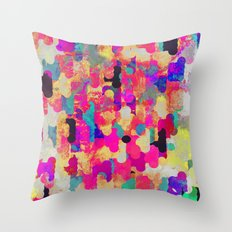 Neon Tambourine Throw Pillow