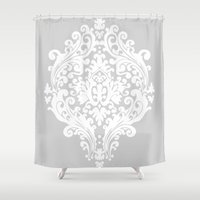damask Shower Curtains featuring Damask by My Studio