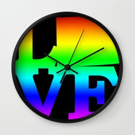 Wyoming Pride USA State Love Map Wall Clock