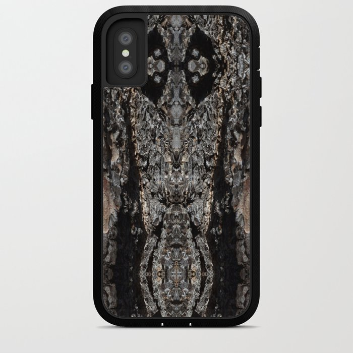 Pine Tree Bark Pattern iPhone Case