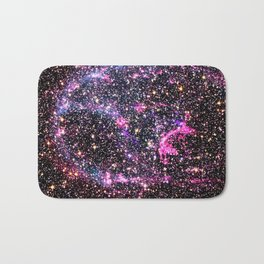 Purple Supernova Bath Mat