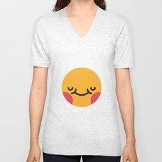 Emojis: Blush Unisex V-Neck