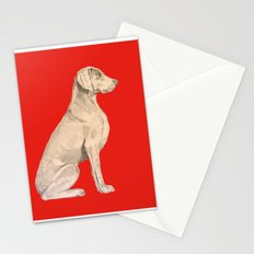 Weimeraner in Red Stationery Cards