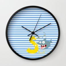 s for shark Wall Clock