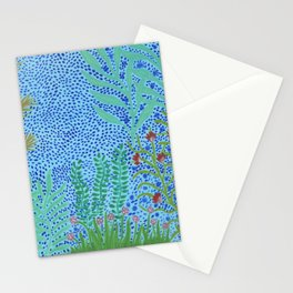 Tropical Blue Forest Stationery Cards