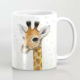 Baby-Giraffe-Nursery-Print-Watercolor-Animal-Portrait-Hearts Coffee Mug