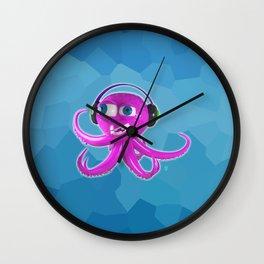 DJ Octopus Wall Clock